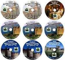987 books UNITED KINGDOM history & genealogy on 9 DVDs