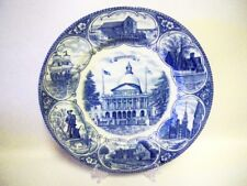 Alfred Meakin Olde English Ceramic Display Plate -'Massachusetts'