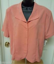 Womens Size 18 Button Down Shirt Top Lauren Lee NWT Orange
