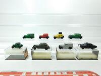 BH62-0,5# 8x Brekina H0/1:87 PKW: DKW F7+Opel P4+BMW Dixi+MB Taxi etc s.g+4x OVP