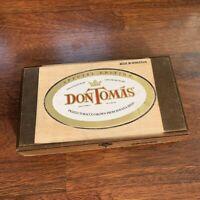 "Vintage Wood Don Tomas Special Edition Cigar Box EMPTY 10.5"" X 6"""