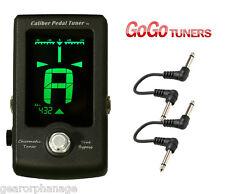 GoGo Caliber Chromatic Pedal Guitar Tuner + 2 FREE PATCH CABLES! Go Go NEW