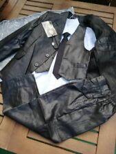 superbe Costume de cérémonie Garçons 4 ans noir effet huilé