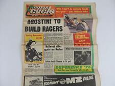 Vintage UK Motor Cycle Newspaper Dec. 1976 Kawasaki Barry Sheene KX125 L1131