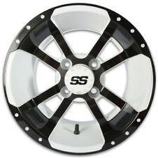 """GOLF CART 12"""" WHITE/BLACK STORMTROOPER WHEELS WITH LOW PRO 215/35-12 DOT TIRE"""