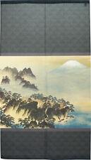 Noren Japanese Hanging Door Curtain Tapestry Hourai Moutain 1 Gray Taikan Japan