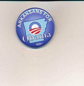 "2008 1 1/2"" Arkansas for Obama - Mfg by Art Craft"
