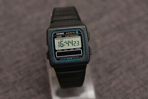 Casio W-27 Solar Battery Alarm Chronograph Dual Time