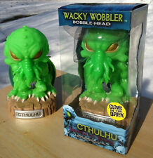 "Funko H.P. Lovecraft CTHULHU 6"" GLOW GREEN LTD CHASE WACKY WOBBLER BOBBLEHEAD"