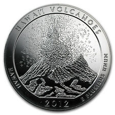 2012 5 oz Silver ATB Coin Hawai'i Volcanoes, Hawaii - America the Beautiful Coin