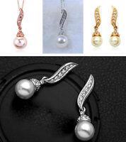 Joli perle et cristal boucles d'oreilles ou collier ou set multiple choix