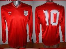 England Shirt Jersey L Vintage LINEKER 1984 Umbro Football Soccer L/S Trikot Top