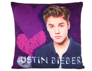 Justin Bieber Heartbreak Cushion / Pillow (Velveteen super soft)