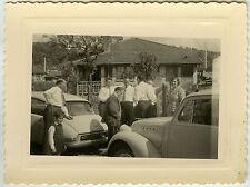 PHOTO ANCIENNE - VOITURE CITROËN DS GROUPE MAISON - CAR HOUSE - Vintage Snapshot