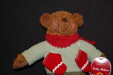 "Hallmark Brown Teddy Bear Red  Mittens Lovey TOY NWT 13"" Plush Stuffed Animal"