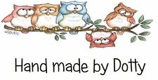 Personalised Mini Stickers labels x 260- Handmade by -  Cute Owls on a branch