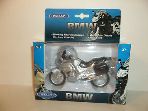 2020 WELLY MOTORCYCLES 1:18 SCALE SILVER 2000 BMW R1100 RT