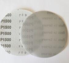 """5"""" Sanding Disc 10 Pack 1500 Grit Waterproof Hook and Loop Film"""