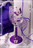 BUTTERFLY Glitter WINE Glass Purple PERSONALISED Hand Painted Decorated Gift