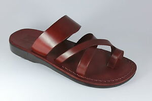 Leather Roman Sandals Jesus Unisex Strap Handmade Jerusalem US (5-16) EU (36-50)