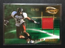 2009 PRESS PASS FUSION MICHAEL CRABTREE ROOKIE GAME USED CARD 29/50