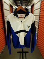 Vintage 1990's Pony Brand Colorblocked 1/4 Zip Sweatshirt Blue Black Size small