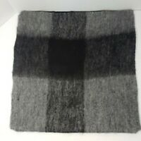 "New Merchant 41 18"" × 18"" Wool Blend Gray  Pillow Cover"