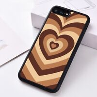 Silicone Phone Case Cover For iPhone XS 6 7 8 11 Pro MAX Latte Love Coffee Heart
