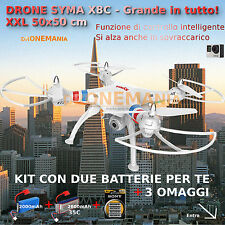 DRONE SYMA X8C XXL GRANDE radiocomandato HEADLESS CAMERA  VIDEO GOPRO omaggio!