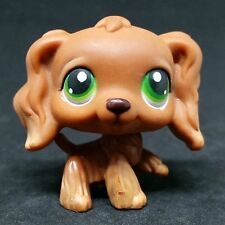 Littlest Pet Shop LPS #252 Brown Cocker Dog Spaniel Green Eyes / Chien Epagneul