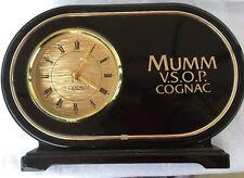 Vint Mumm V.S.O.P. Cognac Bar Man Cave Table Clock Sign*