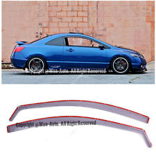 For 06-11 Honda Civic Coupe Light Tint In-Channel Vent Side Window Visors JDM OE