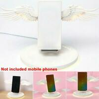 Wireless Phone USB Charger with Angel Wings Night Light for Android Apple Phone