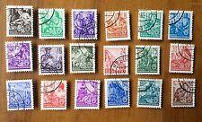 EBS East Germany DDR 1957 5 Year Plan Fünfjahrplan Offset Michel 362-379 ND