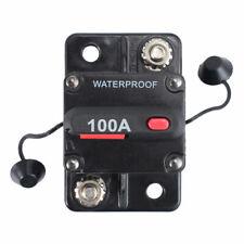 100A AMP Circuit Breaker Dual Battery IP67 Waterproof 12V 24V Fuse Manual Reset
