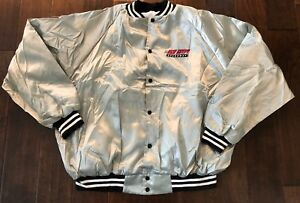 """RARE New Egypt Speedway Nylon """" Be There"""" Silver Jacket Men/Adult 3XL"""