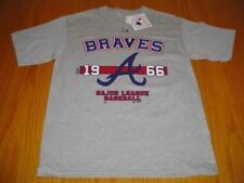 NEW WT MLB ATLANTA BRAVES  T-SHIRT GRAY BOYS XL MAJESTIC COTTON POLY BLEND