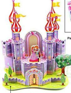 New 3D puzzle purple castle princess prince romantic