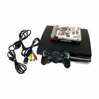 Sony Playstation 3 PS3 Slim CECH-2501A 160gb Console Bundle NHL Infamous Tested