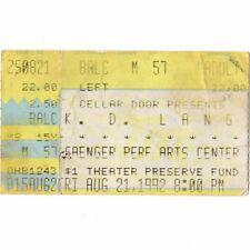 KD LANG Concert Ticket Stub NEW ORLEANS 8/21/92 SAENGER PERFORMING ARTS CENTER