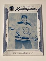 Steven Santini Rookie 1/1 The Cup Printing Plate Insert Parallel Hockey Card