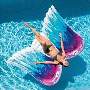 Colchoneta hinchable flotador para playa piscina Cómoda Sillón intex alas angel