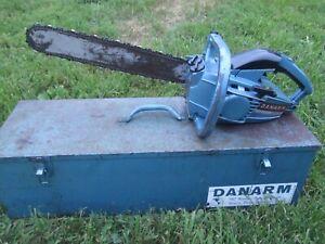 Vintage DANARM 1-36 MARK1 Chainsaw in Original Metal Case
