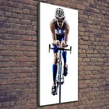 Leinwand-Bild Kunstdruck Hochformat 50x125 Bilder Radfahrer