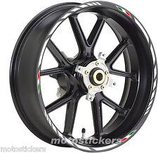 Aprilia Tuono 50 - Adesivi Cerchi – Kit ruote modello racing tricolore