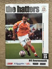 Luton Town v AFC Bournemouth - Coca-Cola League 1 2007/08 Programme