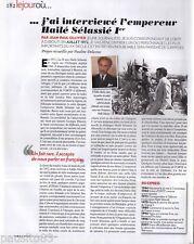 Coupure de presse Clipping 2011 L Empereur Hailé Sélassié 1er  (1 page)