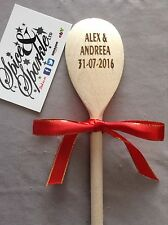 Personalised Engraved Wood Spoon Kitchen Baking Cooking Gift Wedding Teacher