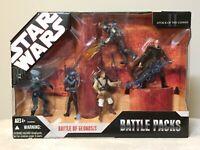 Star Wars Battle Of Geonisis Battle Pack 2006 MIB Jango Fett Aayla Secura EP II