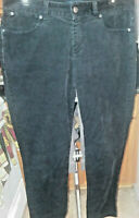 Talbots Signature sz 6 pants black cotton blend corduroy flat front straight leg